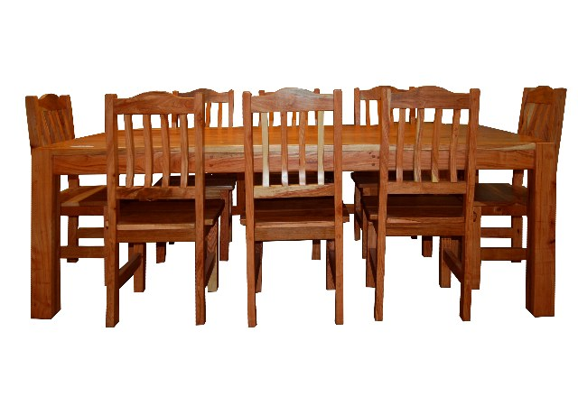 Rhodesian Teak Table And Chairs 8 Seater