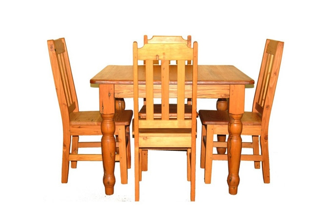 Oregon Pine Dining Table 1000 X 770 Turned Leg And Chairs Ouhout Meubels