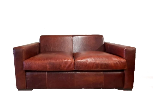 Square arm Pista Gobi 2 seater couch