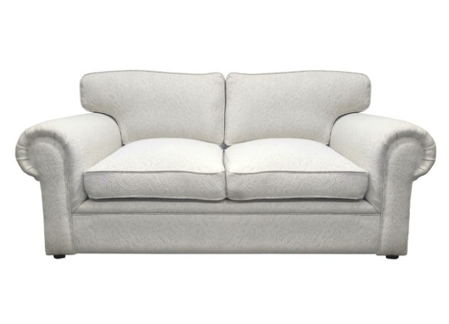 Namib embroidered grey fabric 2-seater